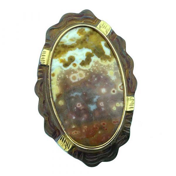 Orbicular Jasper Ring