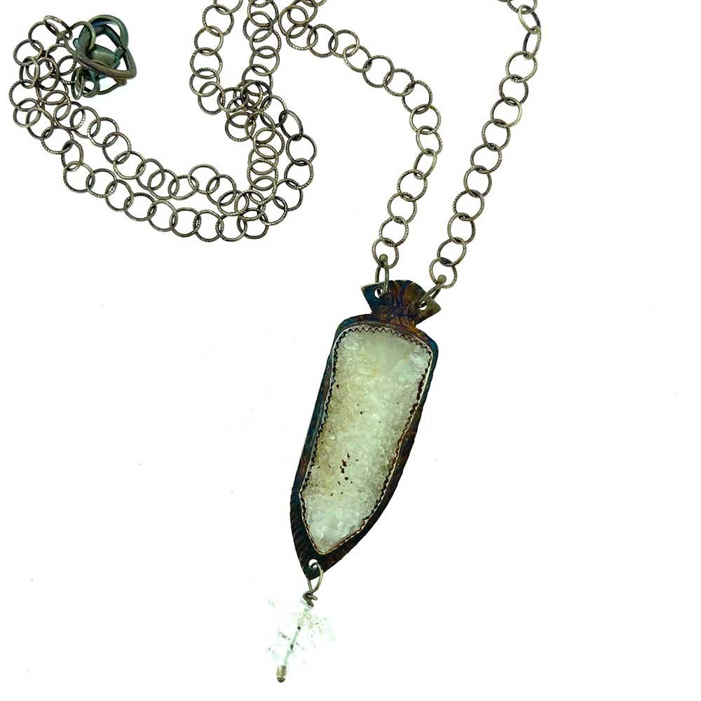Quartz Stalagtite with Herkimer Diamonds