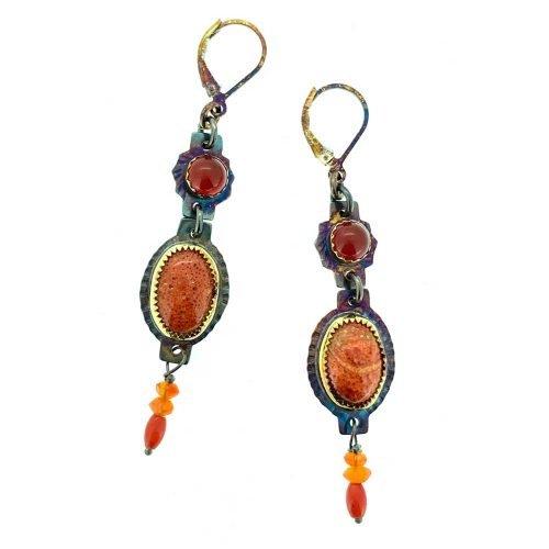 Apple Coral Earrings
