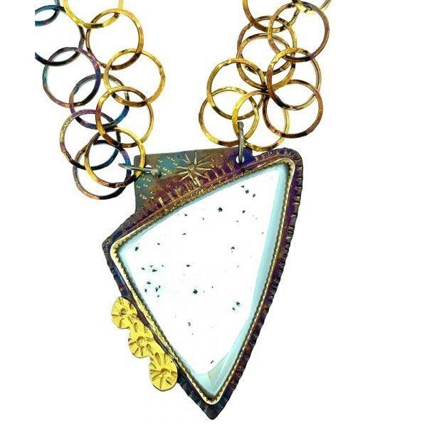 Agate Quartz Druzy Necklace