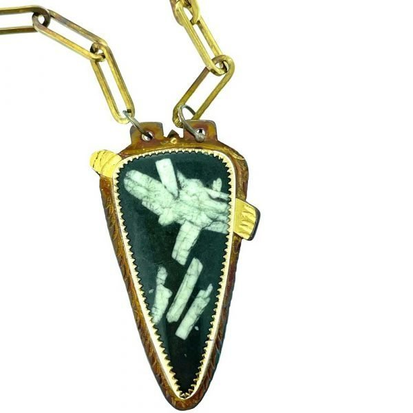Chinese Writing Stone Necklace