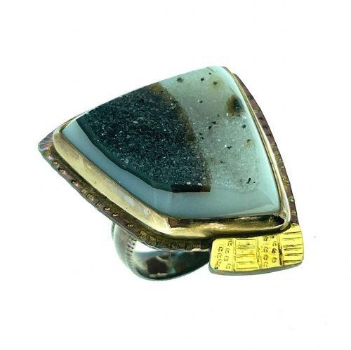 Quartz Agate Druzy Ring