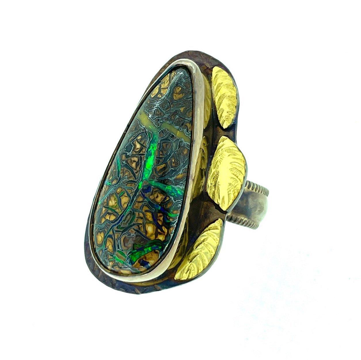 Yowah Opal Ring